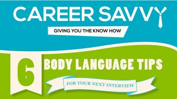 Six Body Language Tips For Your Next Interview