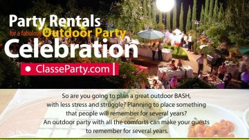 The Perfect Outdoor Party Rentals for a Grand Outdoor Bash