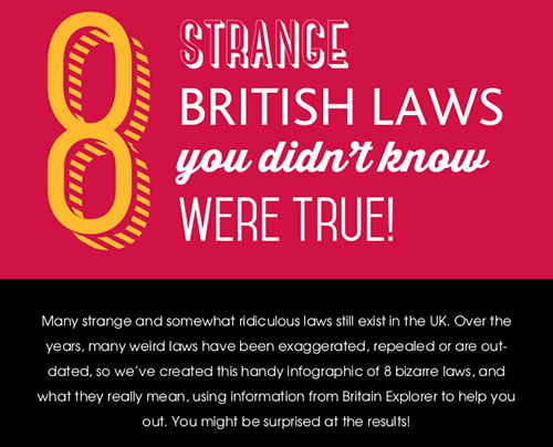 8 Strange BRITISH LAWS you didn't know WERE TRUE!