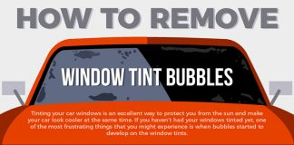 How To Remove Window Tint Bubbles